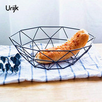 Wholesale Metal Bread Boxes - FUNIQUE Snack Storage Plate Iron Tray Moder Style Storage Holder Home Decoration New Year Chrismas Kitchen Tools Accessories