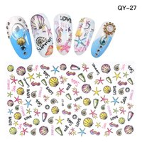 Высокое качество Cute Sea Horse Nail Art наклейки Decals Nail Shell Design Наклейки Beauty Decor 30pcs / lot