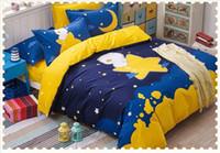 ingrosso letti per neonati per bambini-Set di biancheria da letto per bebè Star pattern per bebè 4 pezzi sul set di promozione ragazzo blu