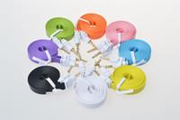 kabel iphone gute qualität großhandel-3.5mm flach männlich zu männlich Auto Aux Stereo Audio Kabel gute Qualität bunten Fall für Handy Iphone Mp3 Mp4 Spieler