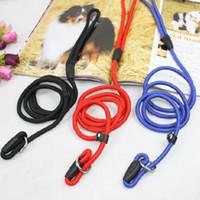 Wholesale Dog Training Rope Lead - 0.6*130CM 1*130CM Pet Nylon Leashes Harness Rope Dog Leash Training Lead Collar Dog Rope & Harness Rope Dog Pet Supplies Free Shipping