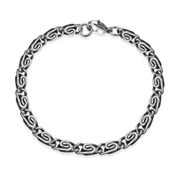 Wholesale Cool Chain Europe - Hot Men 316L stainless steel chain bracelet 5mm cool party jewelry top quality Europe selling free shipping