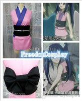 Wholesale-Fairy Tail Wendy Marvell rosa Kimono Cosplay