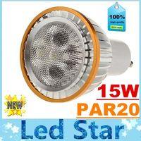 Wholesale Mr16 Lumens - E27 E26 PAR20 15W Led Bulbs Light CREE Dimmable GU10 MR16 Led Spot Lights Lamp Warm Natrual Cold White High Lumens 720lm AC 110-240V