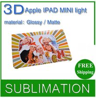 Wholesale Diy Ipad Case - Free Shipping! 3D Sublimation Glow in Dark DIY Blank White Hard Cases for IPAD MINI wholesale blank shell