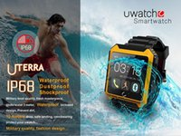 Ip68 Iphone Baratos-Bluetooth Smart Watch Reloj U Watch Uterra IP68 impermeable Pedometer IPS pantalla para el iPhone Samsung IOS / Android teléfono
