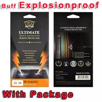 Wholesale Galaxy Buff - For Samsung Galaxy S6 G9200 Note5 Note 5 N9200 BUFF Ultimate Screen Protector Shock Absorption Explosion-proof Film Guard Retail Package