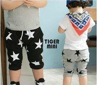 Wholesale Boys Pants Stars Pocket - 2016 Summer Hot Sale Baby Children Boys Shorts Stars Printed Harem Pants Kids Clothing Child Clothes Gray Black Casual Pants 5pcs lot L557