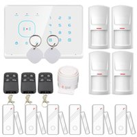 Wholesale Gsm Rfid Alarm - Safearmed TM 2016 New STouch Screen 433MHZ RFID Wireless Home GSM Alarm System Support Android Ios App Remote Control (White)
