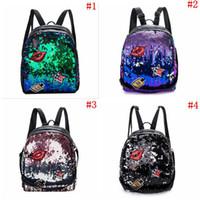 ae56e3622e2b5 Girls Sequins Lip Backpack Women Shoulder Bag Schoolbags Handbag Satchel Bag  Cute Bling Mini Backpacks OOA3801