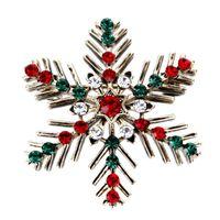 yılbaşı pin kar tanesi toptan satış-Noel Broşlar-Yeni Yıl Merry Christmas Kar Tanesi Broş Pin Hediyeler-Noel Süslemeleri Presentes Takı Ücretsiz Kargo