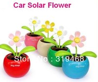 Wholesale China Solar Toys - Wholesale-1pcs lot With Retail Package Flip Swing Flap Solar Sun Powered Flower Car Toy Gift Free China Post Shipping