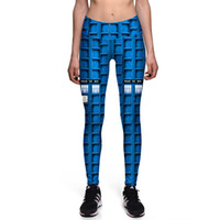 Wholesale Sexy Police S - 2017 New 0028 Fashion Tardis Police Box Doctor Who Prints Sexy Girl Pencil Yoga Pants GYM Fitness Workout High Waist Women Leggings