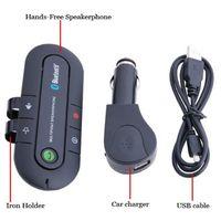 Wholesale Handsfree Speakerphone Car Kit - Wireless Bluetooth Car Kit Handsfree Speakerphone 10m Speaker Phone Hands Free Car Bluetooth Handsfree Kit + Car Charger
