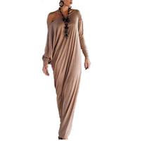 senhoras muçulmanas venda por atacado-Atacado-novo outono inverno mulheres vestidos vintage plus size senhora long maxi vestido irregular muçulmano indiano solto vestido casual vestido gl467
