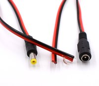 DC Power Pigtail Cable 2.1x5.5 mm CCTV DC 12V Power Pigtail Cable Jack FemaleMale 12Pcs