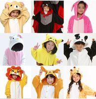 Wholesale Kids Cosplay Costumes Cheap - New Hot sale Kids Anime Kigurumi Carnevale Costume Lovely Cheap Pajamas Cosplay Onesies Costume Children Sleepwear Coat