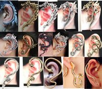 Wholesale Cheap Clip Jewelry - 50%OFF!Hot wholesale! Retro dragon ear clip. Alloy snake earrings. 11-STYLE! Fashion jewelry. Cheap prom jewelry.sale 30pcs G