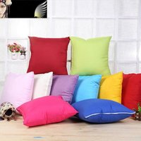 Wholesale Cushion Factory - Pure Color Pillow Case Square Soft Blank Cushion Cover No Core Sofa Throw Pillowcase Factory Direct Sle 3sx B
