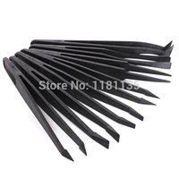 Wholesale Promotion High Quality High Quality Black Plastic Anti static Tweezer Heat Resistant Straight Repair Tools