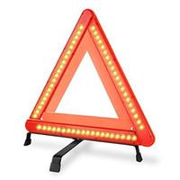 Wholesale Emergency Warning Triangle - Wholesale-autvivid LED Safety Warning Triangle Reflector 17 Inch Emergency Road Flasher