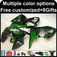 ingrosso zx6r kit di ferramenta 1996-23 colori + regali copertura moto carenatura ABS per Kawasaki ZX-6R 1998-1999 ZX6R 98 99 verde Kit corpo moto