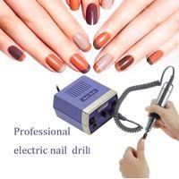 Wholesale Nail Care Machine - Pro 220-240V Electric Nail Drill Machine Nail Art Salon Manicure Pedicure Nursing Kit Tool Nail Care Emery Rods and Sand Bits