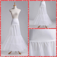 Wholesale Mermaid Prom Dresses For Sale - Cheap Sale 2 Hoops Bridal Petticoats For Mermaid Wedding Dresses Lycra Underskirt White Fish Style Crinolines For Wedding Prom Quinceanera