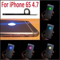 substituição led iphone venda por atacado-6 S LED Inteligente Noite Fria Luz Brilho Brilho Logo Para iphone 6 s 4.7 logotipo brilhante mod kit de substituição frete grátis