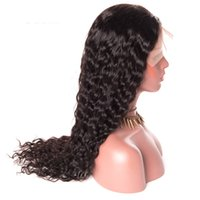 Wholesale small cap wigs - water wave full lace Wig with baby hair natural hairline Lace Front Wigs for Black Women small medium large size cap stocked