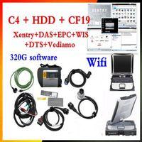 xentry tools venda por atacado-Ferramenta de Alto Desempenho MB Star C4 Conjunto Completo scanner automático xentry + das com CF19 4G Laptop SD Conectar c4 para diagnósticos de Carro DHL livre