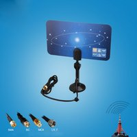 Wholesale Digital Super Thin Indoor TV Antenna HDTV DTV HD VHF UHF Flat Design High Gain Miles Range