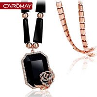 Wholesale Korean Garments Red - Kalome jewelry Rose crystal retro sweater chain female Korean fashion long garments accessories pendant necklace