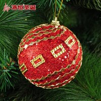 Wholesale Luxury Decorated Christmas Trees - decorated tree decoration items 8 cm red bubble stick act the role of luxury Christmas ball 24 g styrofoam balls ornament party supplies