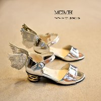 Wholesale European Fashion Girls Sandals - Wholesale-Free Shipping Brand New 2015 summer 2 Colors PU Leather Size 21-33 European version girls fashion sandals Roman shoes hollow Win