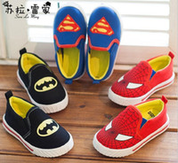 Unisex spiderman shoes - HIGH Quality Superman Spiderman Batman classic shoes years old baby shoes children s shoes casual shoes kids shoes pairs