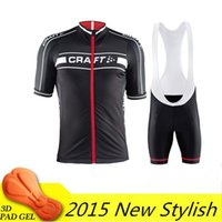 Wholesale Cycling Jersey Craft - Wholesale-cycling jersey bike wear mtb clothing ropa ciclism craft 2015 summer style short sleeves bib shorts high quality with gel pad