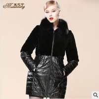 Wholesale Otter Coats - Wholesale-Sheep skin otter rabbit hair long coat of cultivate one's morality of new fund of 2015 autumn winters fox collars free