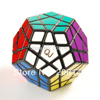 Wholesale Qj Megaminx - Wholesale-QJ Megaminx Black Magic Cube Brain Teaser Twist Puzzle Toy