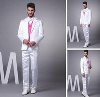 Wholesale Mens Wedding Suits Discounted - Hot Sale two buttons Cheap Reference 2016 Mens Wedding Suits Groom Tuxedos Discount Wholesale Groom Tuxedos