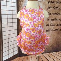 Wholesale Sunflower Romper - Petti Sunflower romper Floral Baby Flower romper Satin Baby Bubble Romper-Girls Sunsuit -baby outfit Hot Sale Jumpsuit romper bodysuit