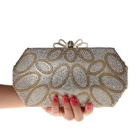 Wholesale Beige Hard Case Clutch - Wholesale-2016 New Women's Elegant Evening Bag Hard Case Crystal Clutch Evening Bag Styling Day Clutches Lady Wedding Purse Top Quality