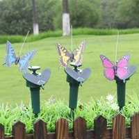 Wholesale Clay Ornaments Wholesale - Simulation Butterfly Solar Hummingbird For Holiday Party Garden Decoration Outdoors Arts And Crafts Ornament Multi Color 7 8ll C R