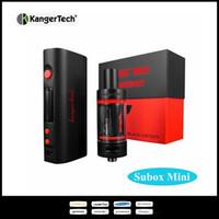 e cigarette originale kanger achat en gros de-100% d'origine Kanger Subox mini Starter Kit 4.5ml Kanger subtank mini e-cigarette Kangertech Subox Kit avec Kbox mini batterie