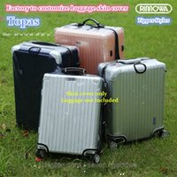 """Wholesale Protective Covers For Luggage - Free shipping New Design Zippers Clear PVC Protective Skin Cover Protector for RIMOWA Topas Luggage 20"""" 21"""" 22"""" 26"""" 28"""" 30"""" 32""""Case suitcase"""