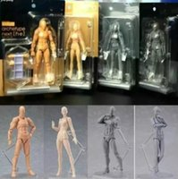 Wholesale Anime Figure Pvc Figma - Anime Figma Archetype He She Ferrite Figma Movable BODY KUN BODY CHAN PVC Action Figure Model Toys Doll for Collectible