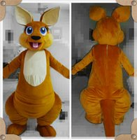 Wholesale Cute Mascot Costumes - Costume Halloween Adult Women Cosplay Dress Hot Children Cute and Breathable Costume Kangaroo Mascot Costume Fancy Dress Outfit Clothing Ka
