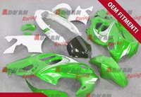 Injection Mold paint molding - Green and white Injection molding custom painted fairing GSX750 F Katana