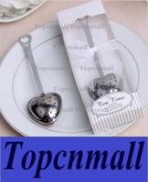"Wholesale Tea Time Wedding Favors - Gift Box ""Tea Time"" Heart Tea Infuser Heart-Shaped Stainless Herbal Tea Infuser Spoon Filter Wedding favors gift"