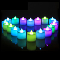 candle led silver prices - LED Candle 12PCS SET Red Green Blue Yellow White Pink Colorful total 7 different color LED candle high quality electric candle